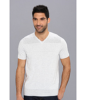 Perry Ellis - S/S Pima Cotton Stripe V-Neck Tee