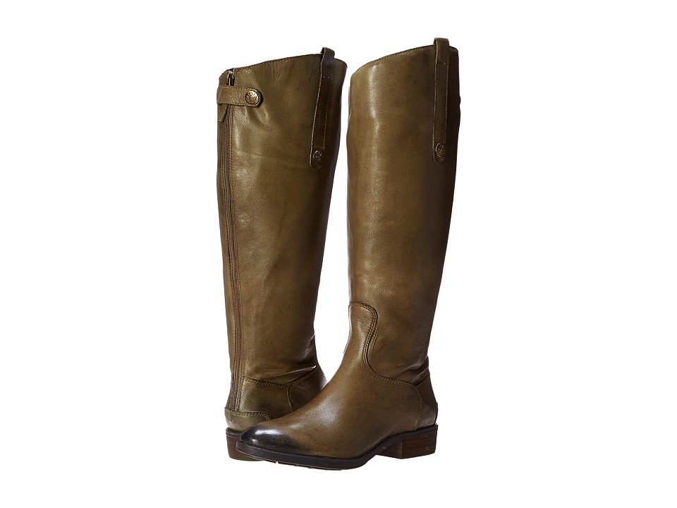 Sam Edelman Penny 2 Wide Calf Leather Riding Boot (Olive)