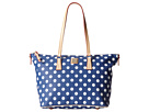Dooney & Bourke Polka Dot Zip Top Shopper