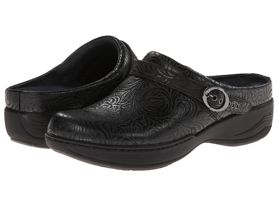 Dansko Allison Black Floral Emboss Womens Shoes