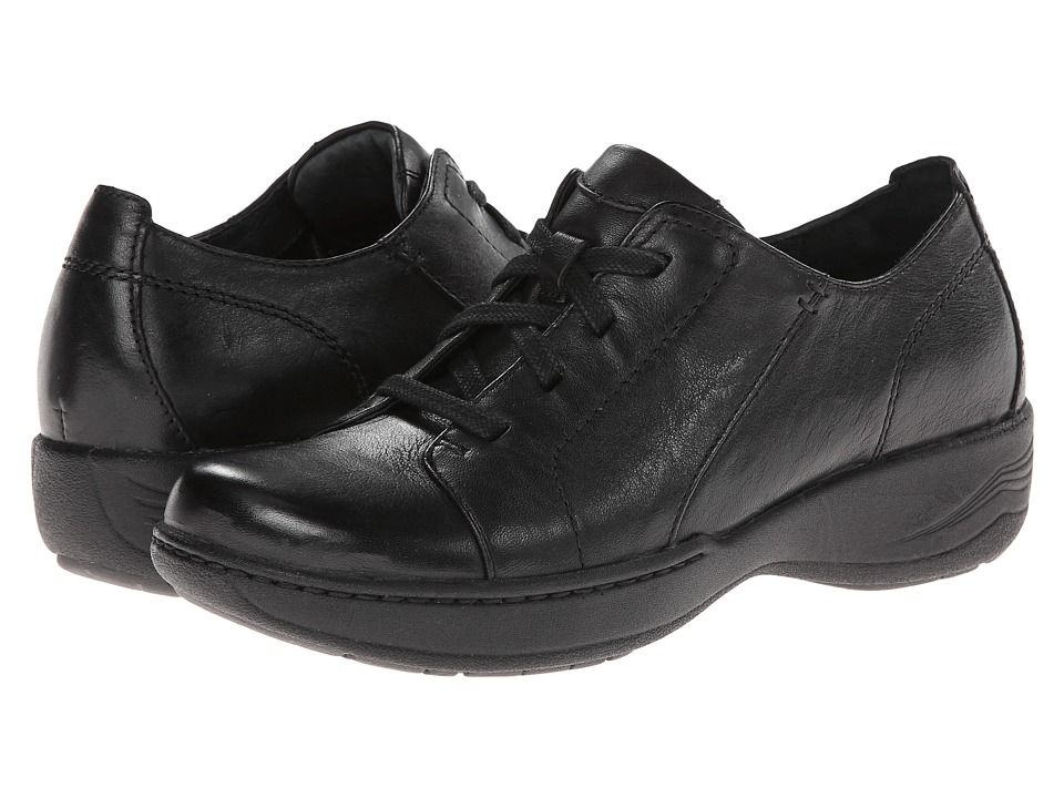 Dansko Adriana Black Milled Full Grain Womens Shoes