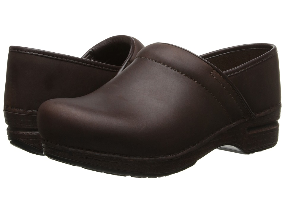 Dansko Pro XP Waterproof (Brown Oiled) Women's Clog Shoes