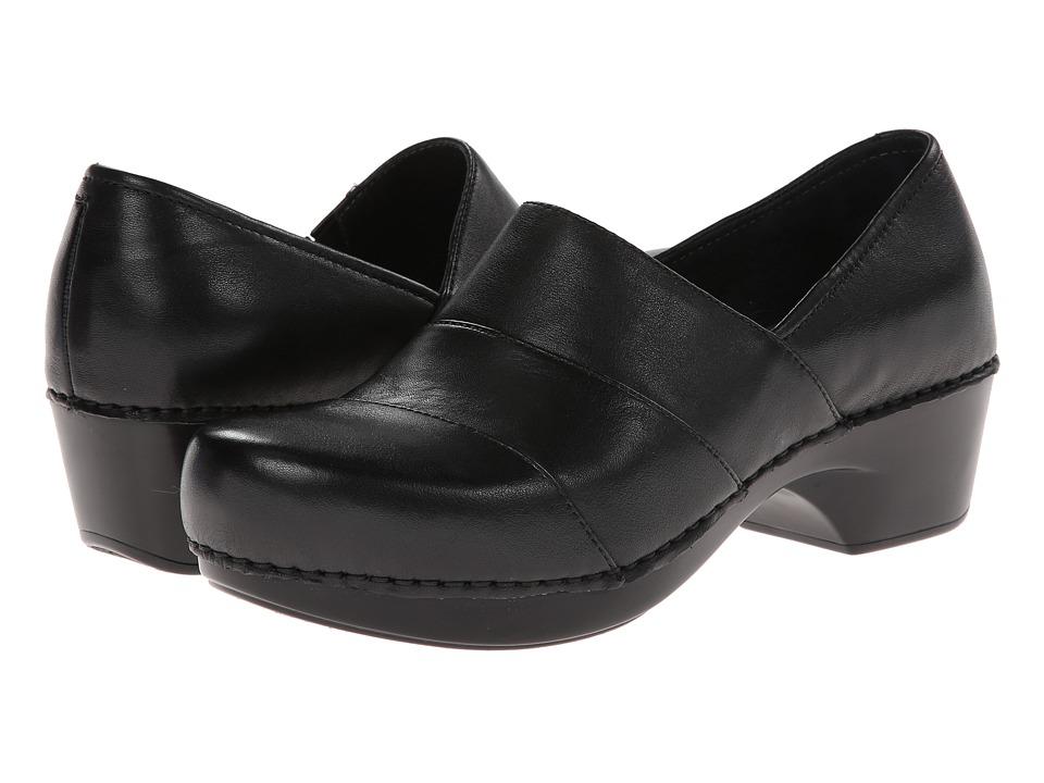 Dansko Tenley (Black Nappa Leather) Women's Clog Shoes
