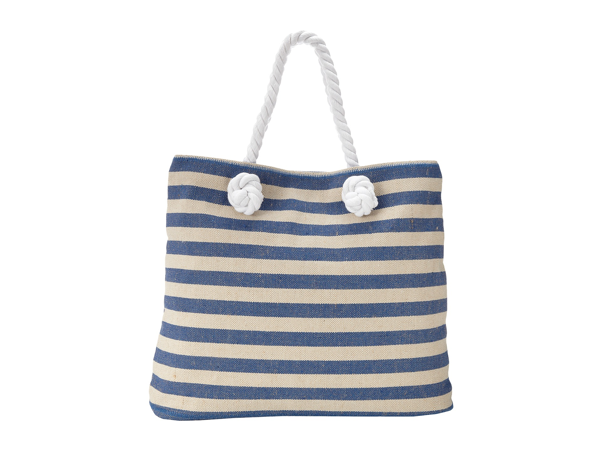 Echo design striped beach tote navy natural shipped free for Designer beach bags and totes