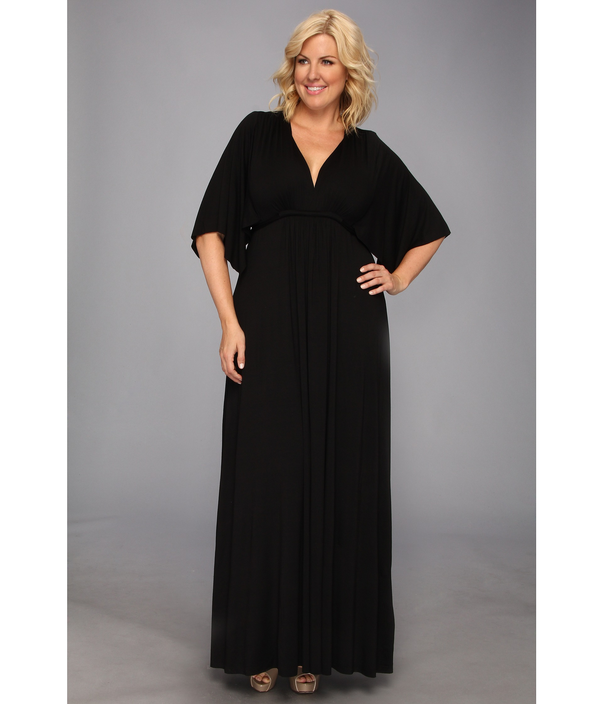 plus length dresses in black
