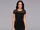 Elie Tahari - Davis Knit Top (Black) - Apparel