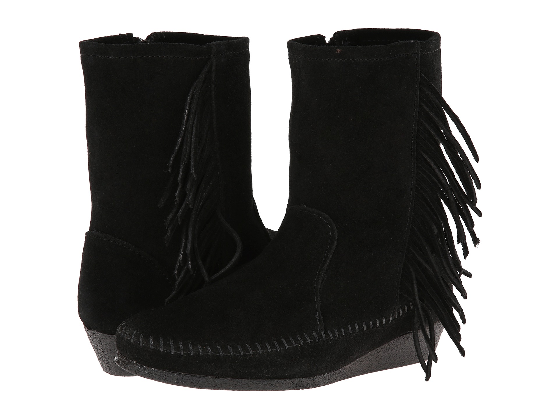minnetonka side fringe wedge boot zappos free