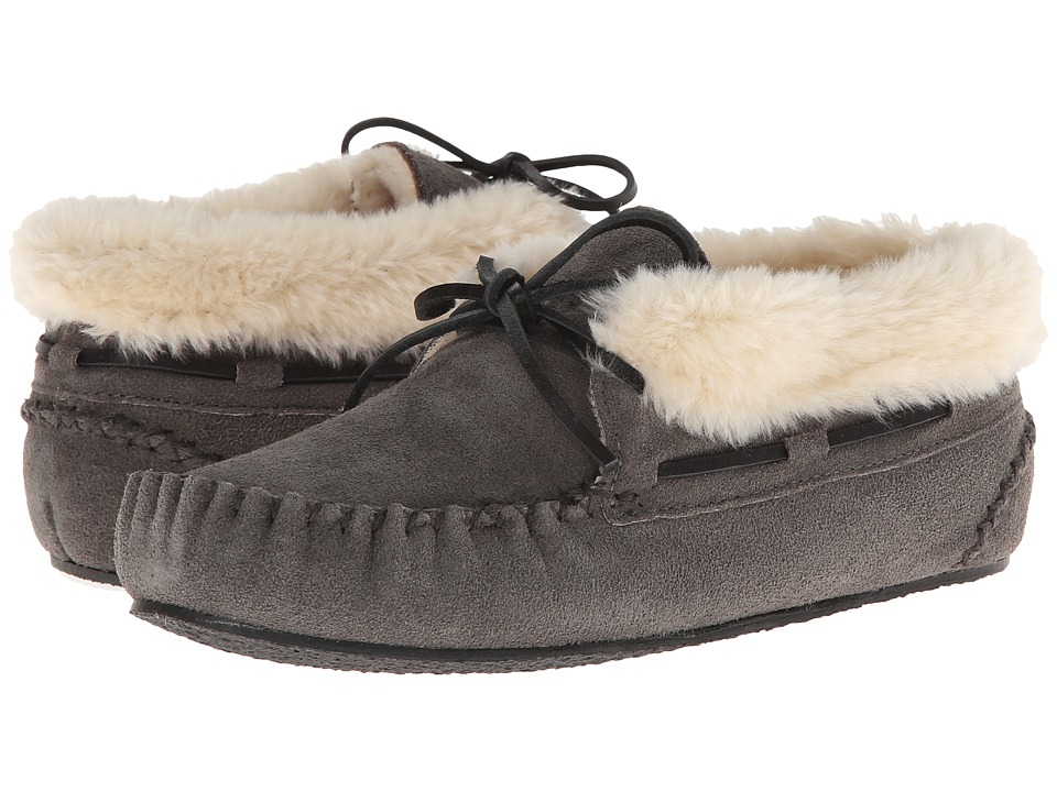 Minnetonka - Chrissy Bootie (Grey Suede) Womens Slippers