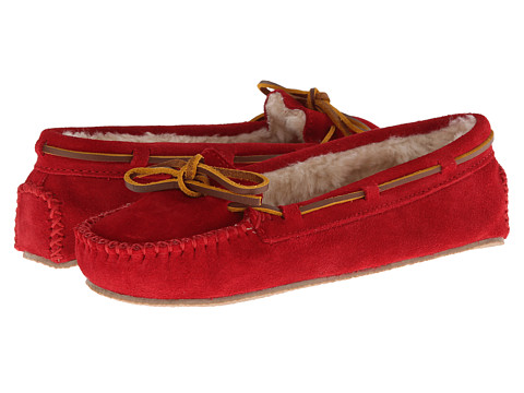 Minnetonka Cally Slipper - Red Suede