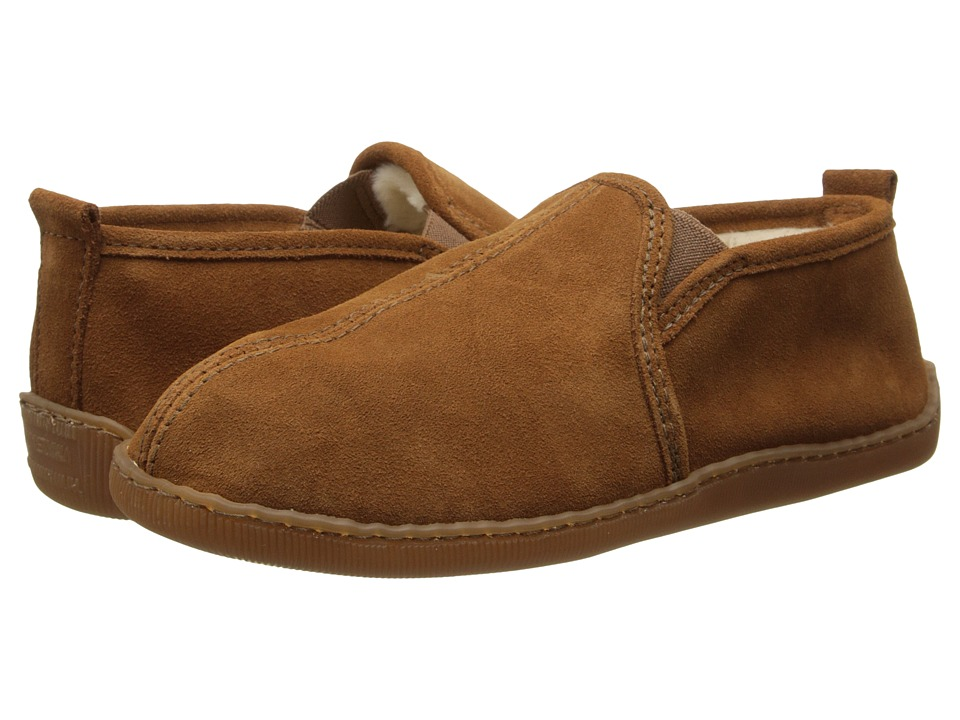 Minnetonka Pile Lined Romeo Slipper (Brown Suede) Men