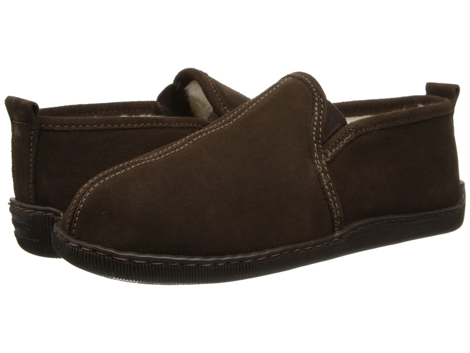 Minnetonka - Pile Lined Romeo Slipper (Chocolate Suede) Men