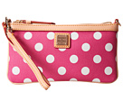 Dooney & Bourke Polka Dot Large Slim Wristlet