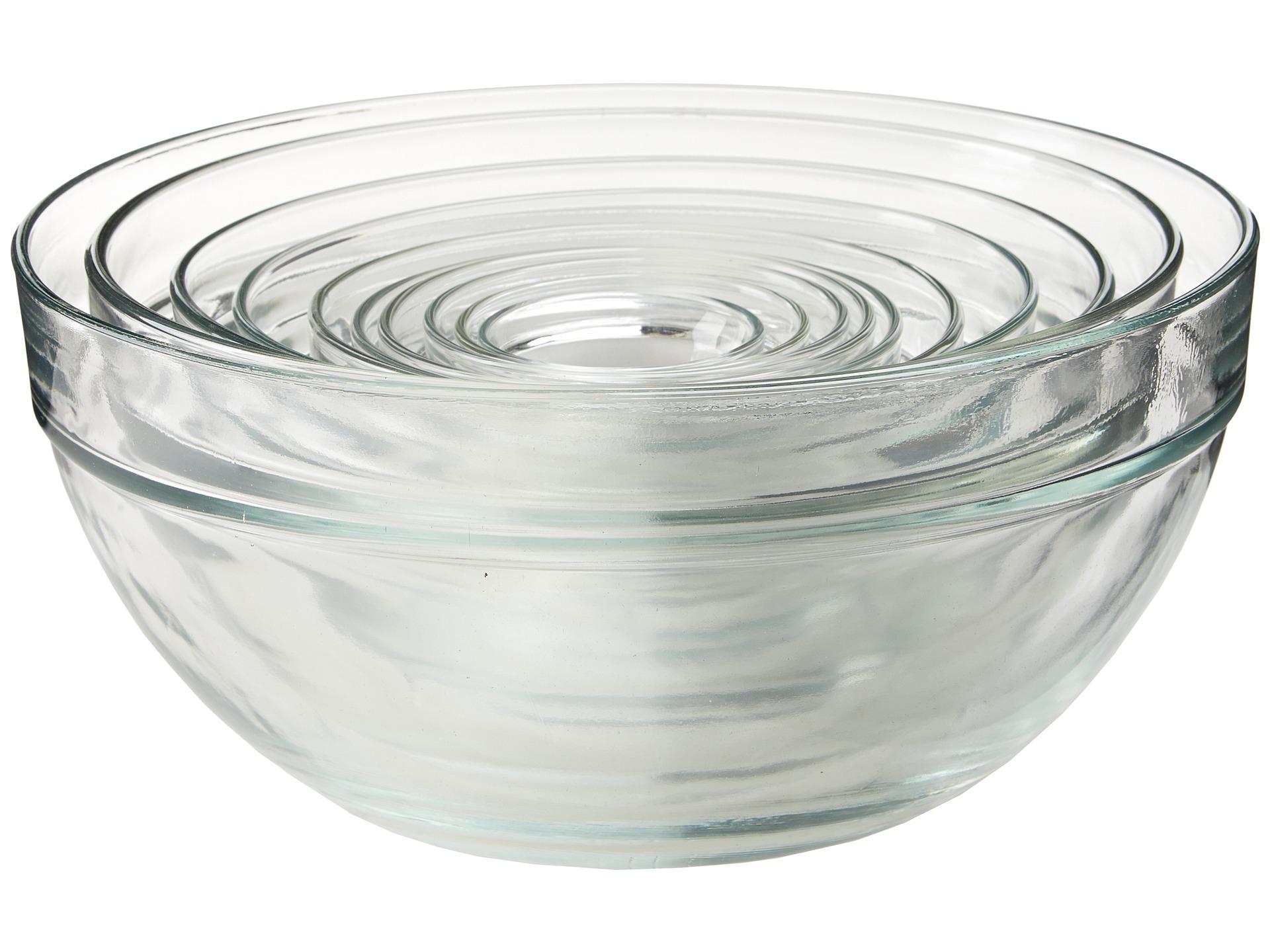 Artland piece glass mixing bowl set clear shipped