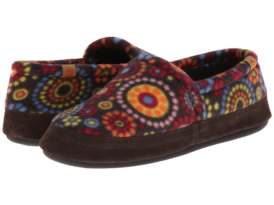 Acorn Acorn Moc Chocolate Dots Womens Moccasin Shoes