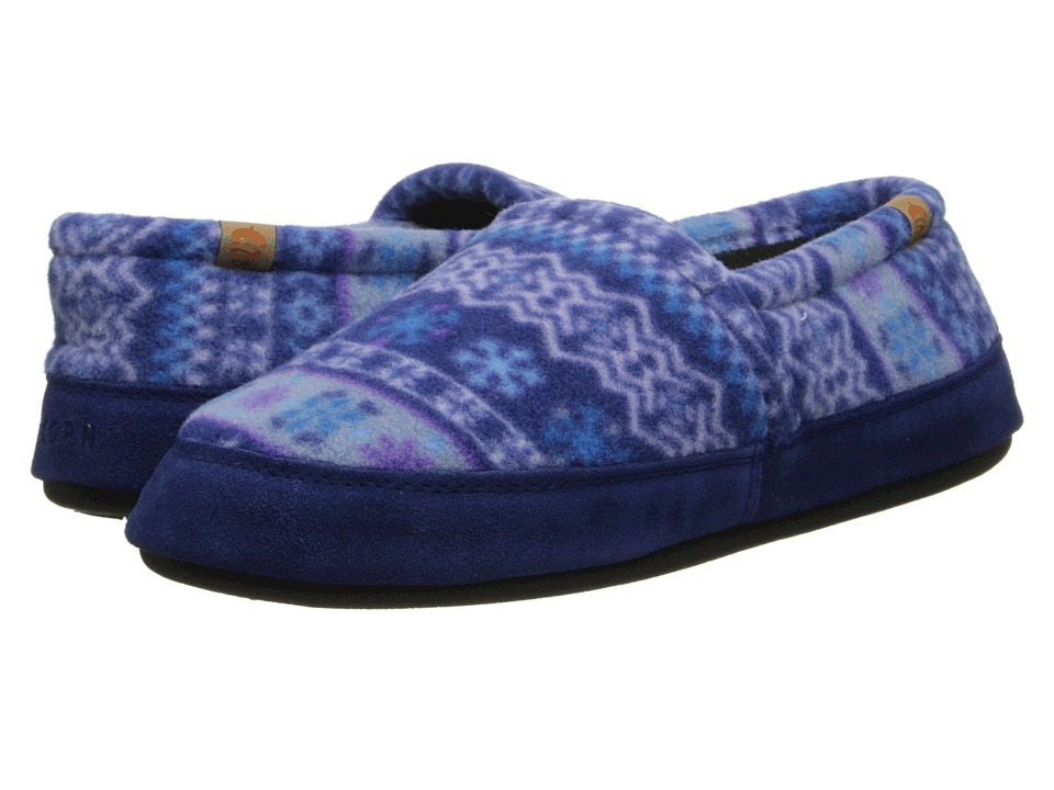Acorn Acorn Moc Icelandic Blue Womens Moccasin Shoes