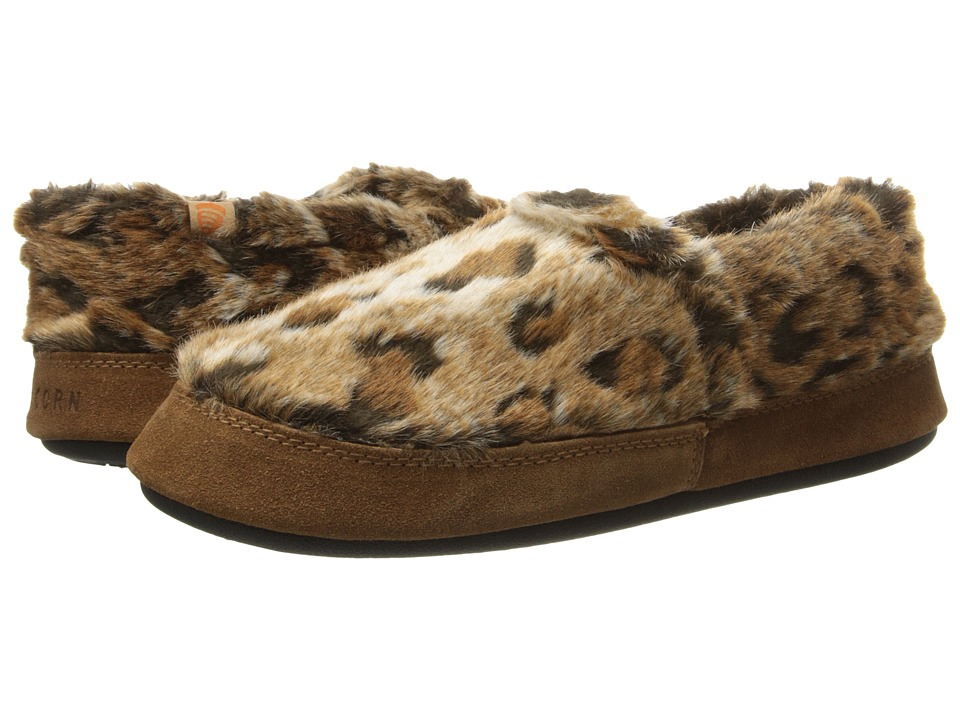 Acorn Acorn Moc Rust Ocelot Womens Moccasin Shoes