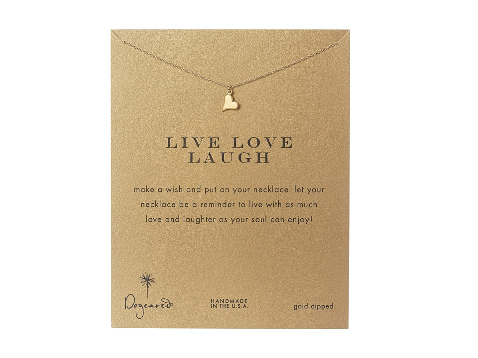Dogeared Live Love Laugh Heart Reminder Gold Necklace