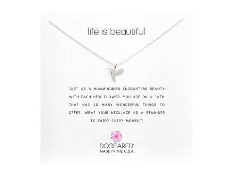 Dogeared Life is Beautiful Hummingbird Reminder
