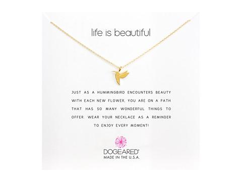 Dogeared Life is Beautiful Hummingbird Reminder - Gold