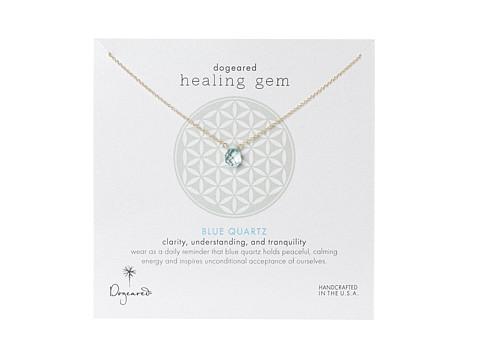 Dogeared Healing Gem Blue Quartz Necklace - Gold