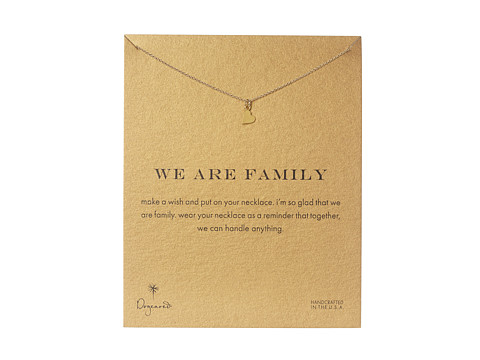 Dogeared We Are Family Heart Reminder - Gold