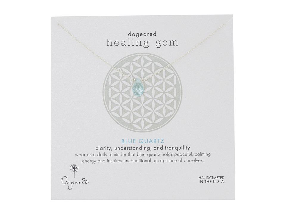 Dogeared Healing Gem Blue Quartz Necklace Silver Necklace