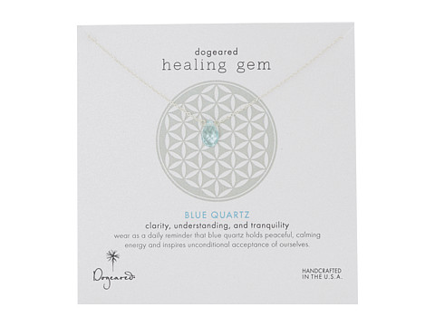 Dogeared Healing Gem Blue Quartz Necklace - Silver