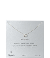 Dogeared - Triple Karma Ring Sparkle Chain Necklace