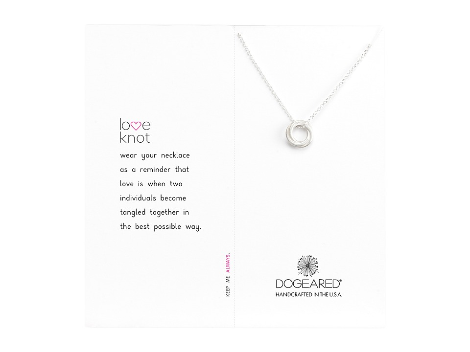 Dogeared - Love Knot Necklace (Silver 2) Necklace