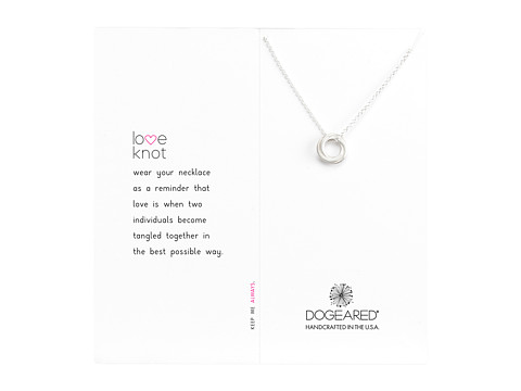 Dogeared Love Knot Necklace - Silver 2