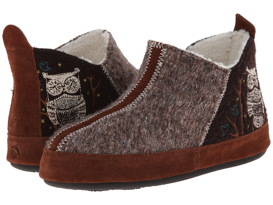 Acorn Forest Bootie (Chocolate Owl) Slippers