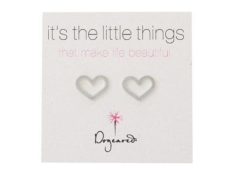Dogeared Little Things Open Heart Studs