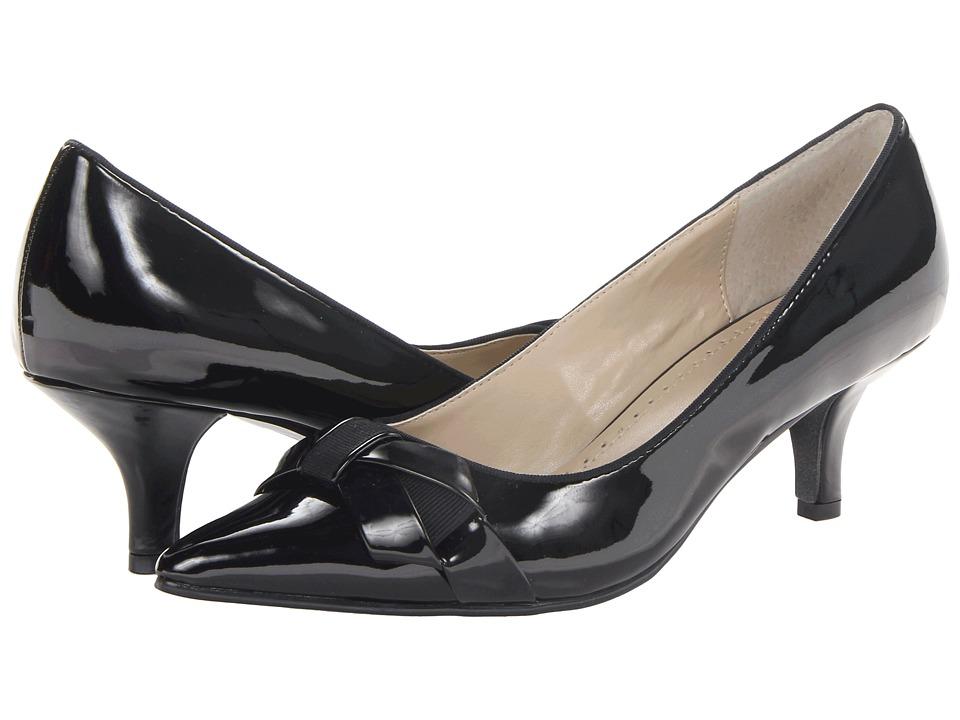 Adrienne Vittadini - Peridot-1 Black Patent High Heels $99.00 AT vintagedancer.com