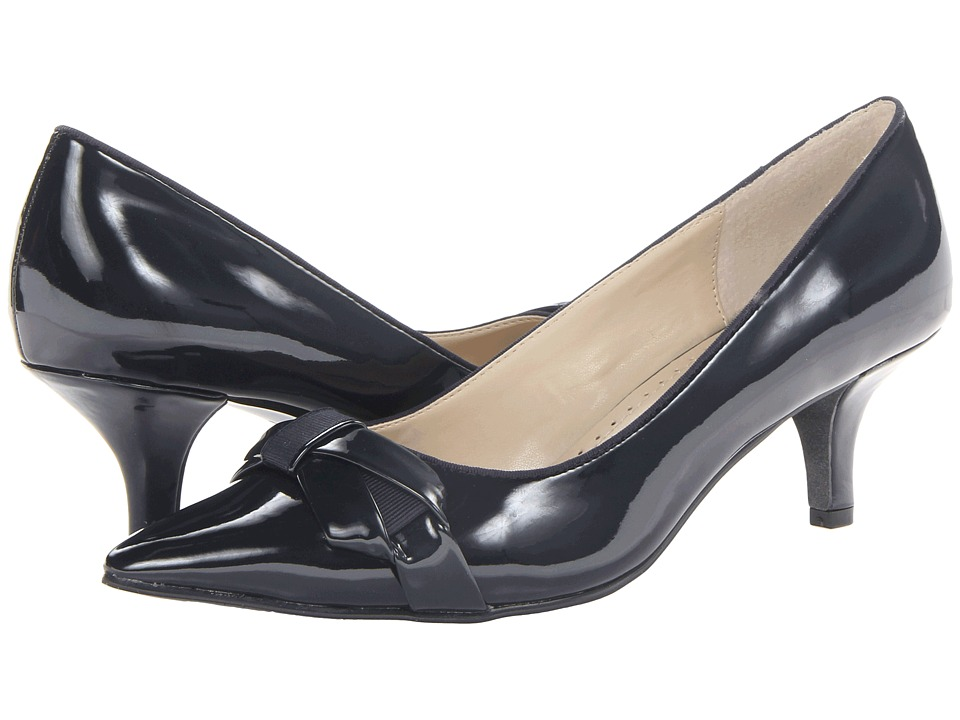 Adrienne Vittadini - Peridot-1 Navy Patent High Heels $99.00 AT vintagedancer.com