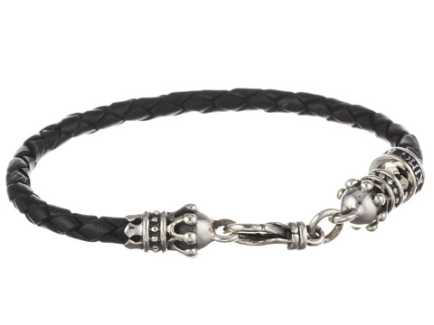 King Baby Studio Small Leather Braid w/ Crowns