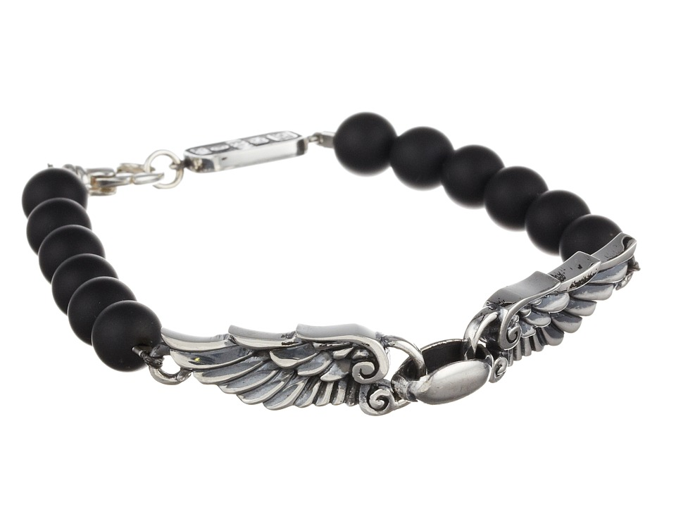 King Baby Studio 8mm Onyx Bead Wingspan Bracelet Onyx Bracelet