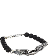 King Baby Studio - 8mm Onyx Bead Wingspan Bracelet