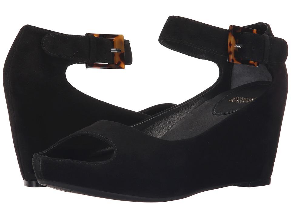 Johnston & Murphy Tricia Ankle Strap (Black Glove Suede) Women
