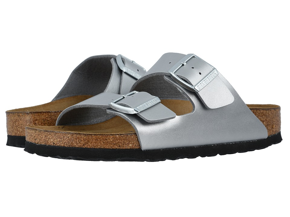 Birkenstock Arizona Soft Footbed (Silver Birko-Flor) Sandals