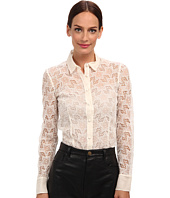 RED VALENTINO - Silk Organza Embroidered Star Blouse