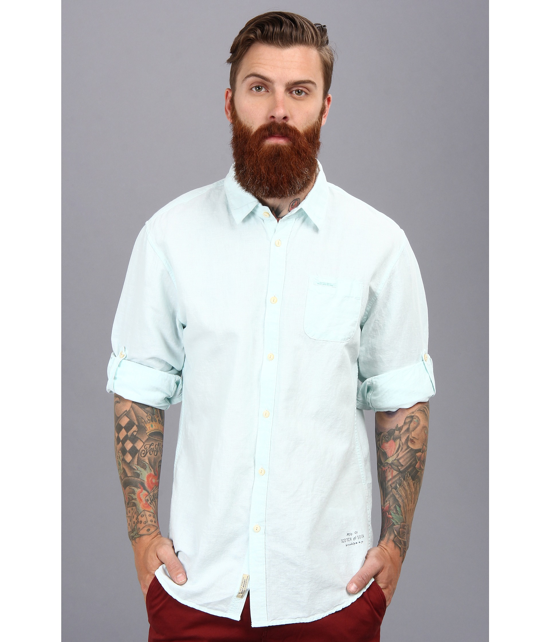 rolled shirt sleeves