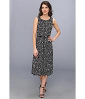 Jessica Howard - 2Pc 3/4 Sleeve Pleated Crop Jacket w/ Sleeveless Seamed Dress
