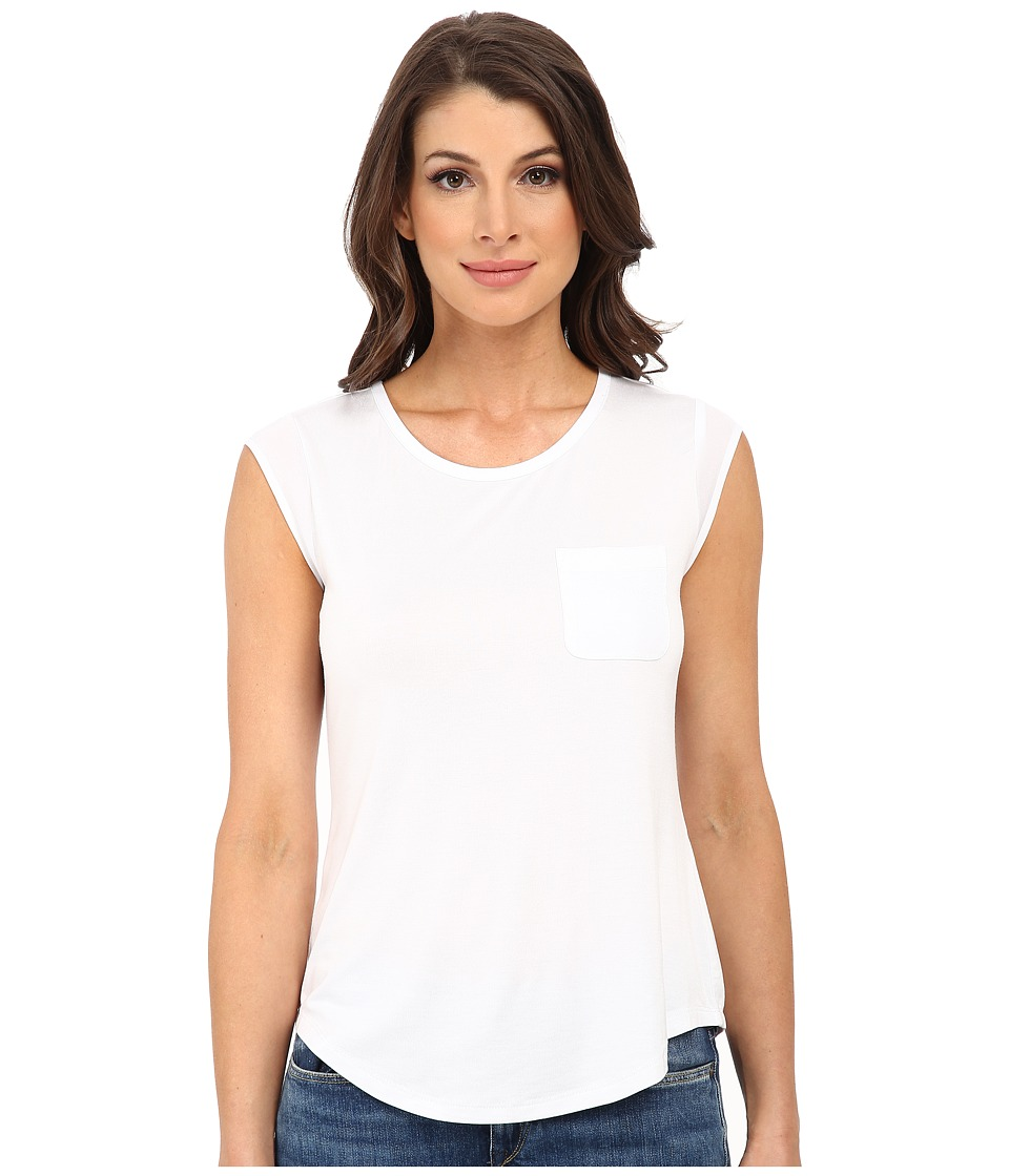 Calvin Klein - T-Shirt w/ One-Pocket (White) Women
