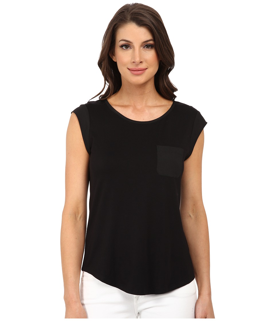 Calvin Klein - T-Shirt w/ One-Pocket (Black) Women