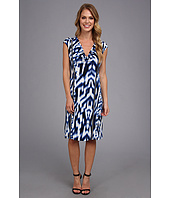 Calvin Klein - Printed Cowl Dress w/ Zips