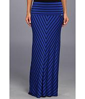 Calvin Klein - Mitered Stripe Maxi Skirt