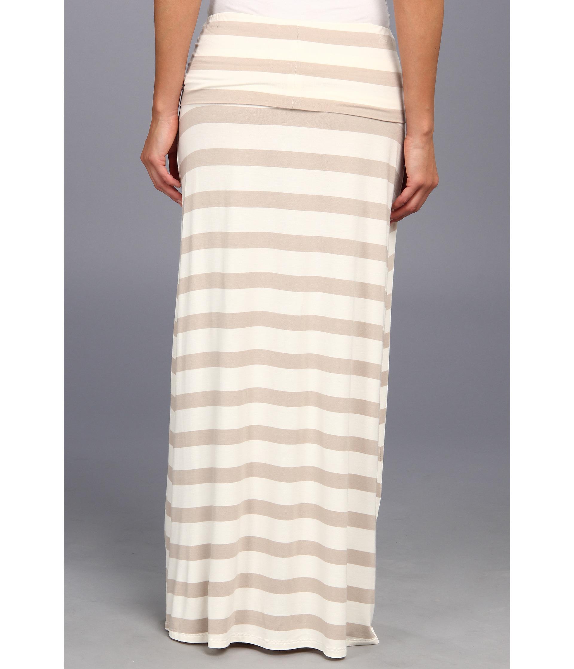 calvin klein thick stripe maxi skirt white latte shipped