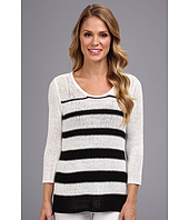 Calvin Klein - Striped Open Stitch Sweater