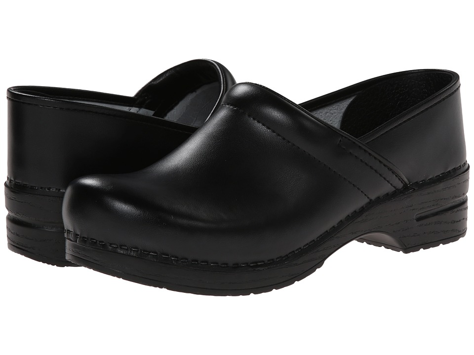 Dansko - Professional Box Leather Mens (Black Box) Mens Clog Shoes