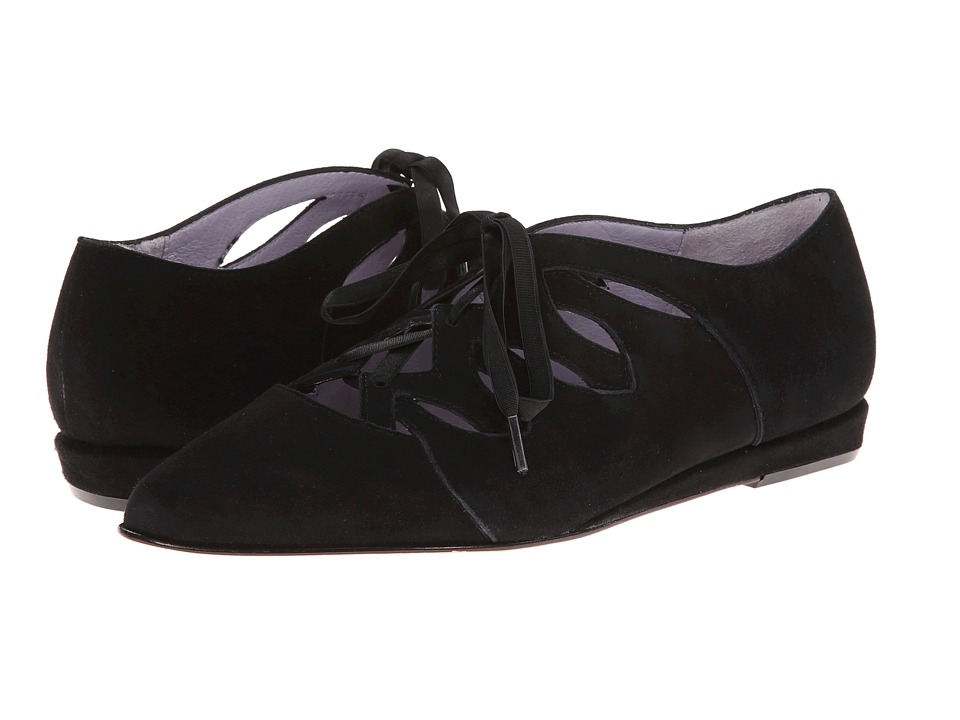 Johnston & Murphy Jade Ghillie (Black Suede) Women's Shoes